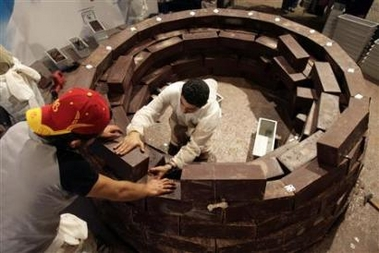 The Chocolate igloo under construction