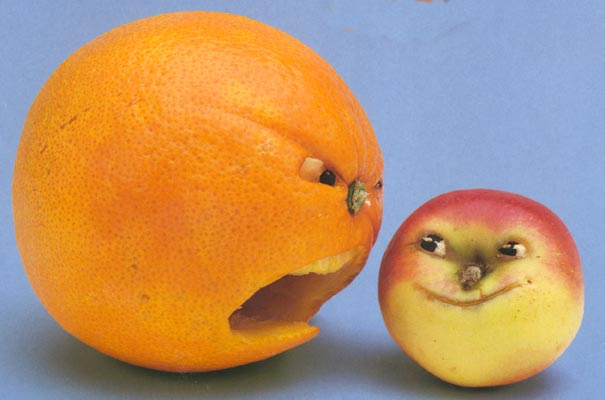 Saxton Freymann's angry fruits