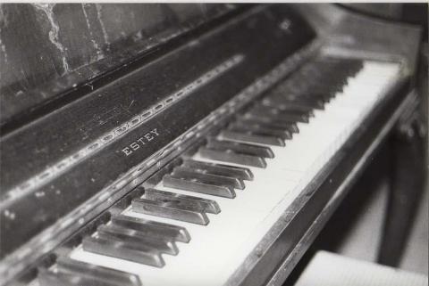 Piano photo taken by a homeless boy
