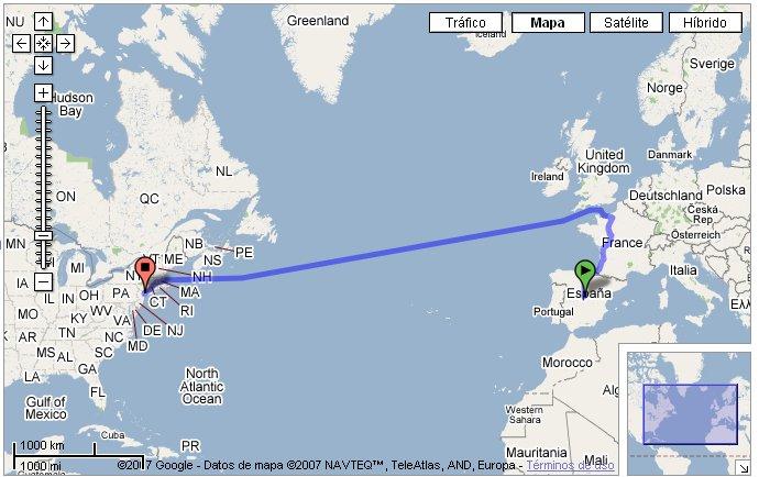 googlemaps route