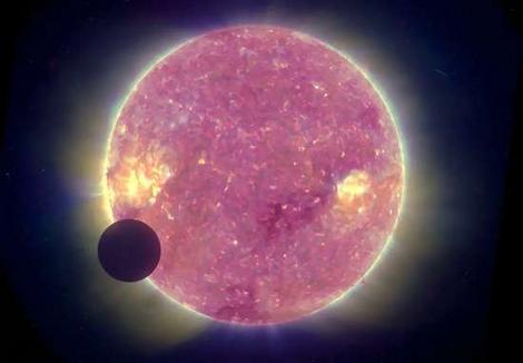 Solar Eclipse from Afar