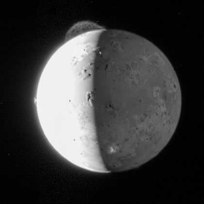Eruptions on Jupiter's Moon Io