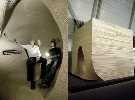 Sound Room Made from Cardboard