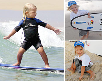 World's youngest surfer?