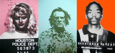Warholized Celebrity Mugshots