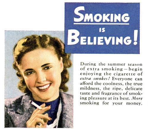 Vintage Smoking Advertisement