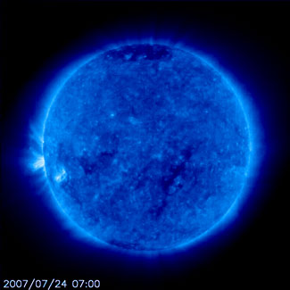 SOHO picture of the sun