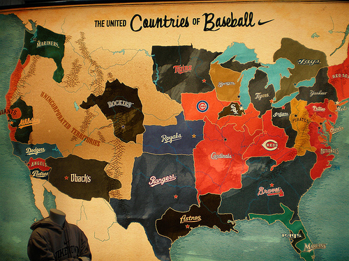 Countries of Baseball Map