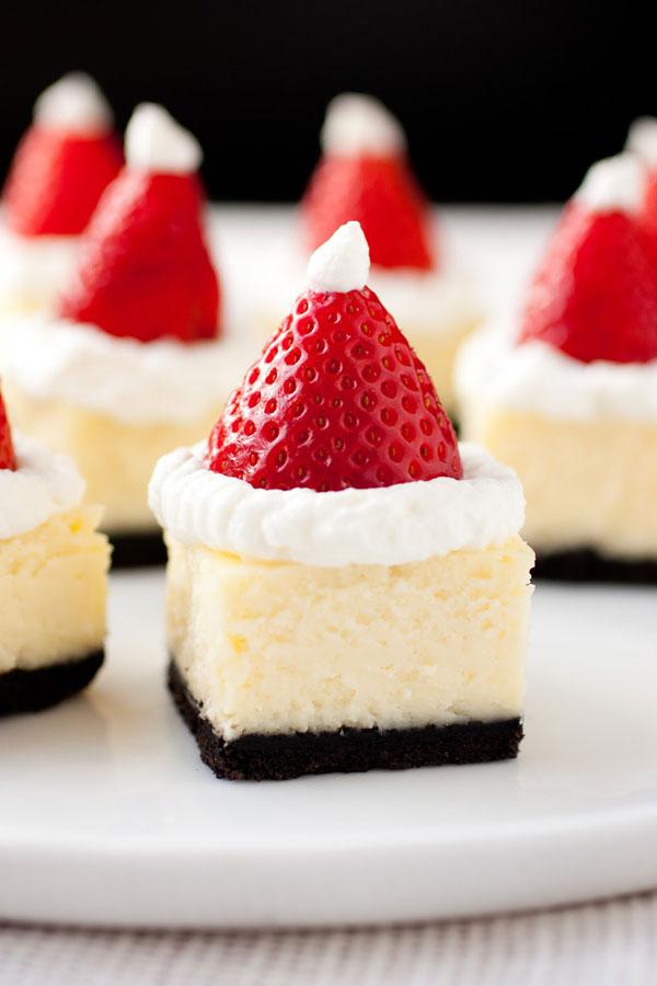 Santa Hat Cheesecake - Neatorama