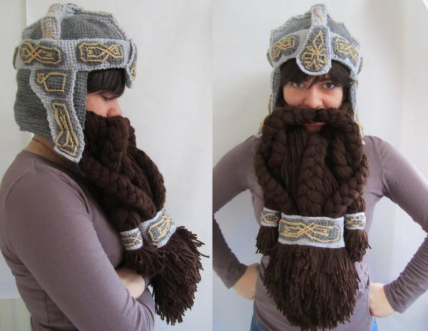 Knitting Pattern For Dwarf Hat : Crochet Dwarf Hat and Beard - Neatorama