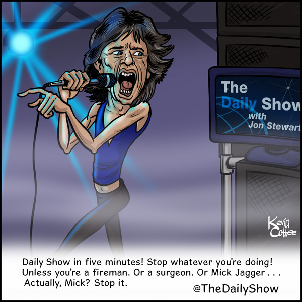 Mick Jagger The Daily Show
