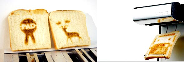 The toast printer in action