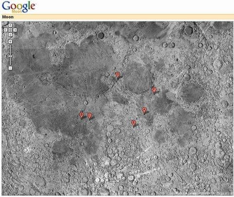 mappe della luna su google maps