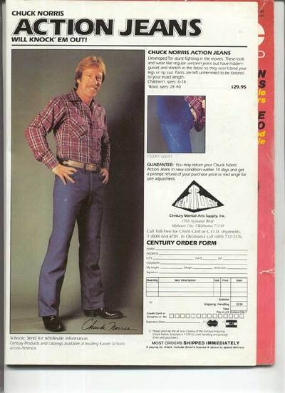 Chuck Norris Action Jeans Neatorama