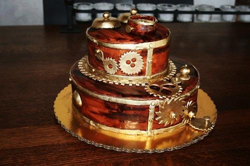 I Adore This Steampunk Wedding Cake