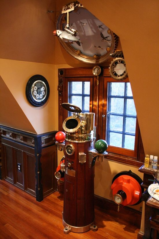 Steampunk House Neatorama