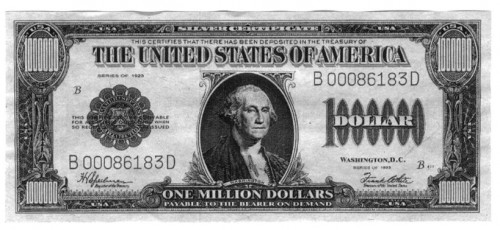 Million-dollar Silver Certificates - Neatorama