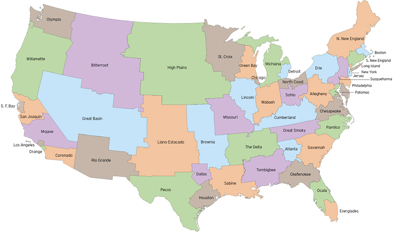 Map Of US Redrawn To Make Each State Equal In Population NeoGAF - Us map popular redrawn states