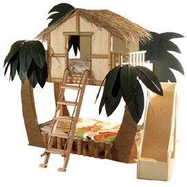 Tropical Surf Shack Bunk Bed - Neatorama