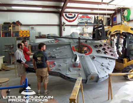 Make A Wish Foundation Builds Millenium Falcon Playhouse