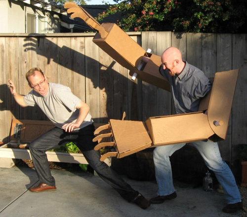 Giant Cardboard Robot Arms Neatorama