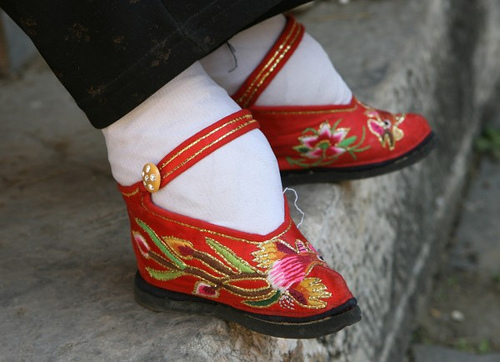 Foot binding was terrible for children's developing feet