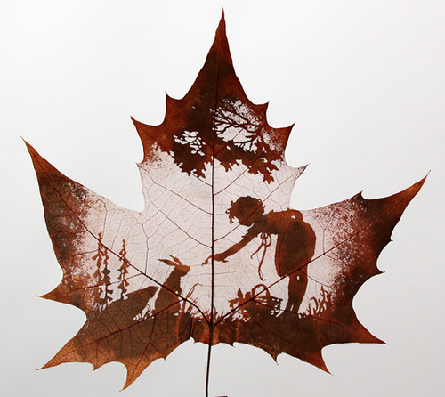 Leaf carving neatorama