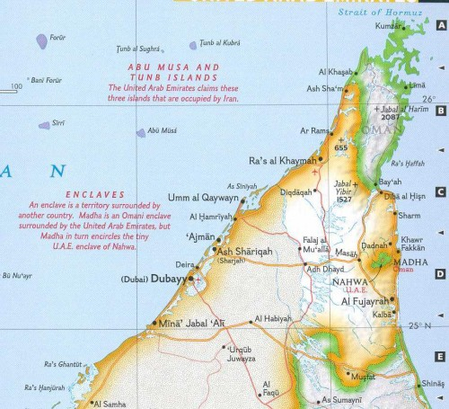A Geographical Nesting Doll Neatorama – Geographical Map of Uae