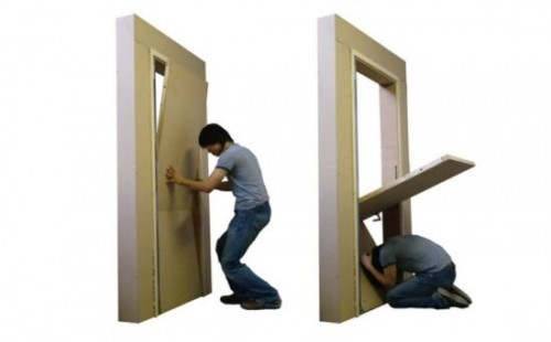 Special Door Serves as Earthquake Shelter