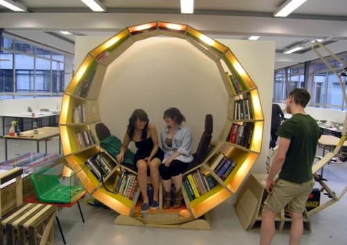 & Circular Bookcase/Chair - Neatorama