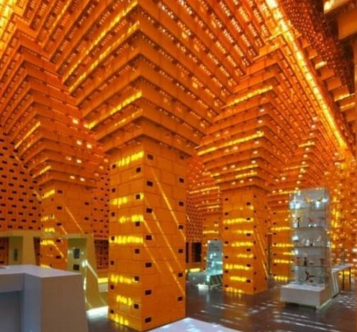 Recycled Beer Crate Pavilion Neatorama