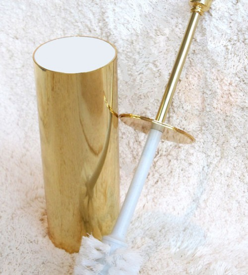 Luxury  24 Carat Gold Toilet Brush Neatorama