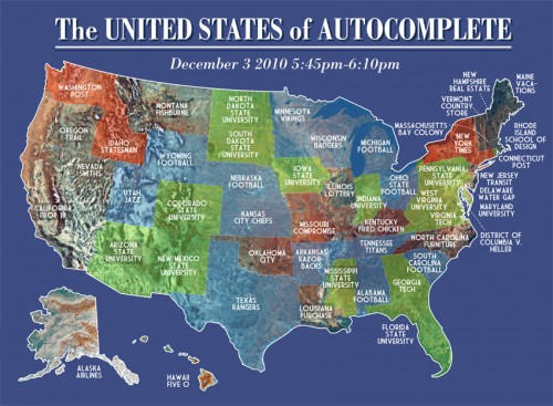 United States Of Autocomplete Neatorama - Map of us with equal population