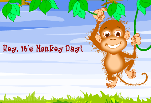 I didn't know until just now, but December 14th is Monkey Day! {wiki} The  day is set aside to raise awareness about monkey issues, monkeys in the  news, ...