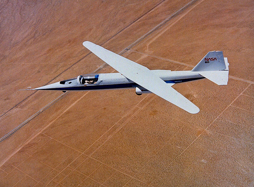 the oblique wing aircraft