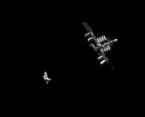 International space station from earth telescope