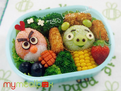 angry birds bento box neatorama. Black Bedroom Furniture Sets. Home Design Ideas
