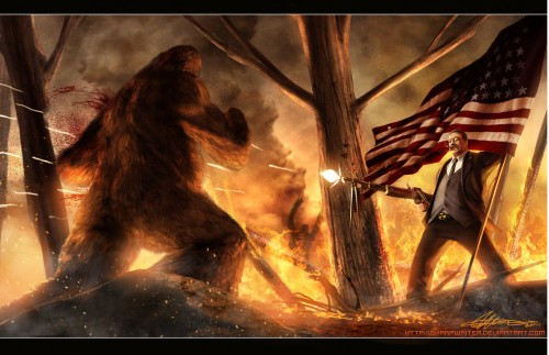 teddy_roosevelt_vs__bigfoot_by_sharpwriter-d3a72w4-500x323.jpg