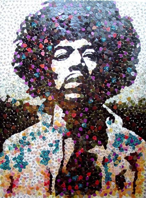 Jimi Hendrix Paper Craft
