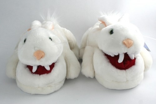 Killer Bunny Slippers 500x333 ... to keep your toesies happy and warm: Classic Adult Bunny Slippers.