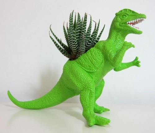 Dino Planters Neatorama