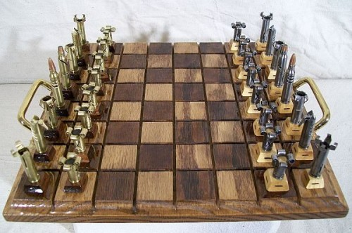 Cartridge chess set neatorama - Coolest chess sets ...