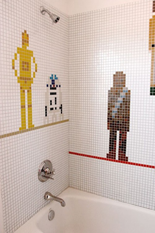 Star Wars Bathroom Tilework - Neatorama