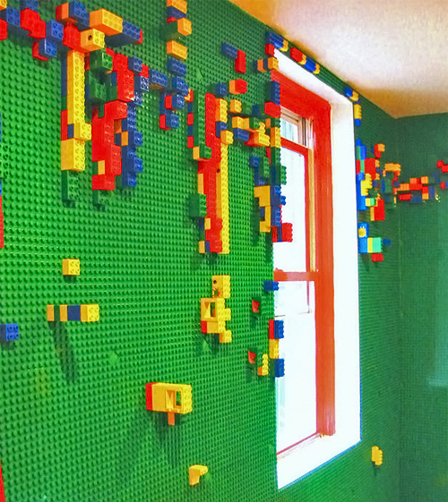Great Idea A Lego Wall For The Kids Bedroom Neatorama