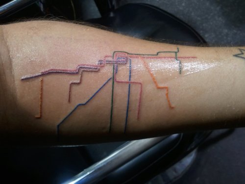 Chicago Train Map Tattoo  Neatorama