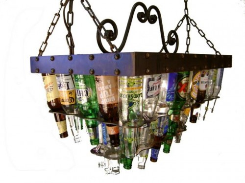 Beer Bottle Chandeliers Beer bottle chandeliers neatorama have you ever wanted to integrate beer into your decor barlite has been making beer bottle sconces and chandeliers for over 10 years audiocablefo