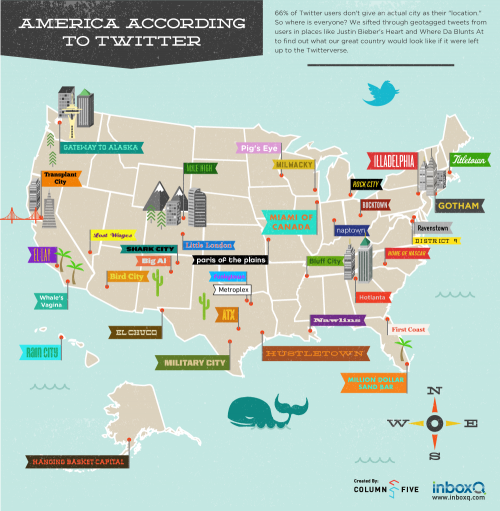 U.S. City Names According To Twitter