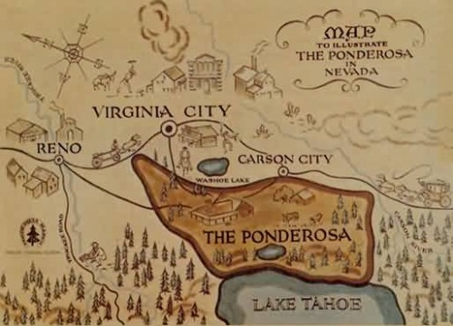 17 Facts You Might Not Know about Bonanza - Neatorama on bonanza ranch nevada map, nevada ponderosa ranch map, idaho craters of the moon map,