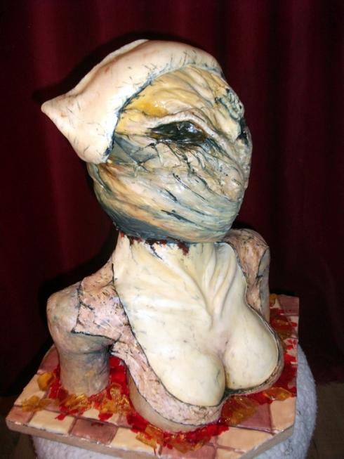 Alien Head Cake