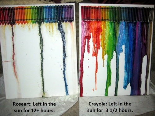 Roseart V Crayola The Sun Test Neatorama